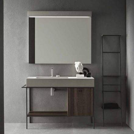 Sammensætning af håndlavede møbler til moderne designbadeværelse på jorden - Farart3
