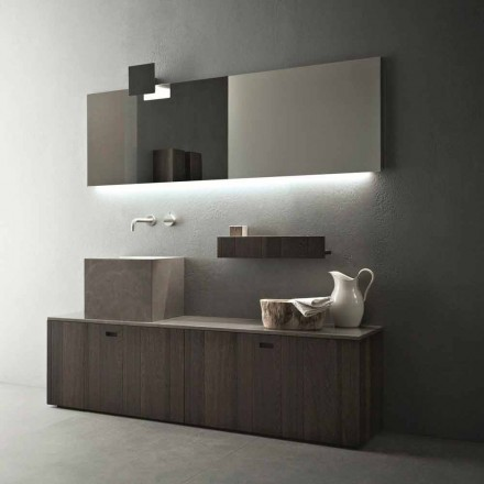 Moderne design jorden badeværelse møbler sammensætning - Farart1