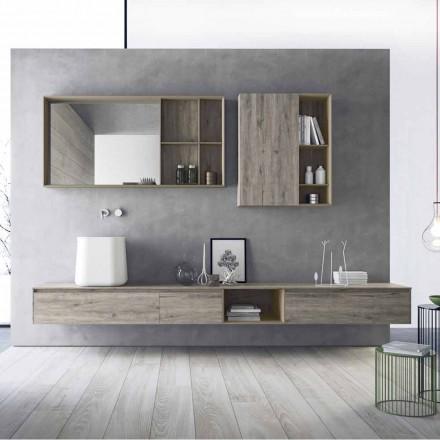 Sammensætning af moderne badeværelsesmøbler, ophængt design fremstillet i Italien - Callisi6
