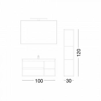 Sammensætning Suspenderet badeværelsesmøbler i Melamine og MDF - Becky