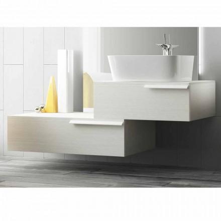 Glædelig moderne lakeret træhængt badeværelse møbelsammensætning