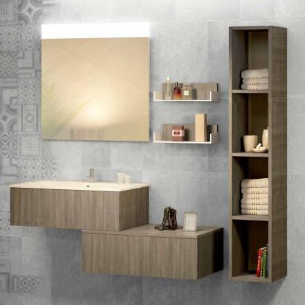 Suspenderet badeværelsessammensætning i mineralarm og fenix lavet Italien, Forlì