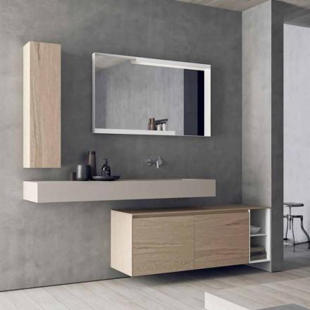 Moderne og hængende badeværelsesmøbler, lavet i Italien Design - Callisi1