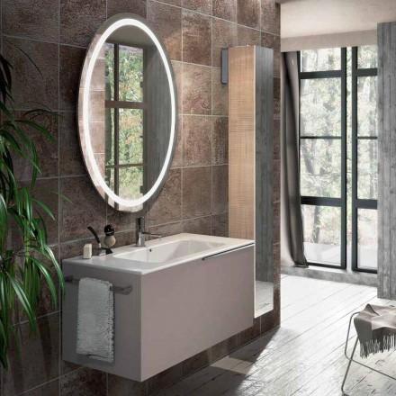 Sammensætning af suspenderede badeværelsesmøbler i Genova design