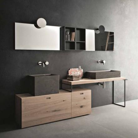 Moderne badeværelsessammensætning af grunddesignmøbler fremstillet i Italien - Farart6