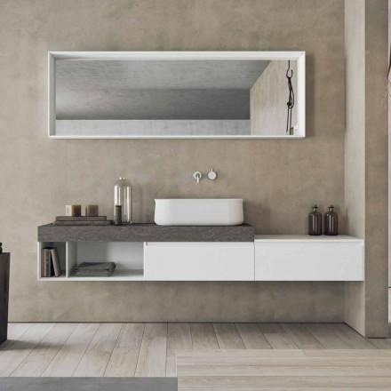 Moderne og ophængt sammensætning af designbadeværelsesmøbler - Callisi2