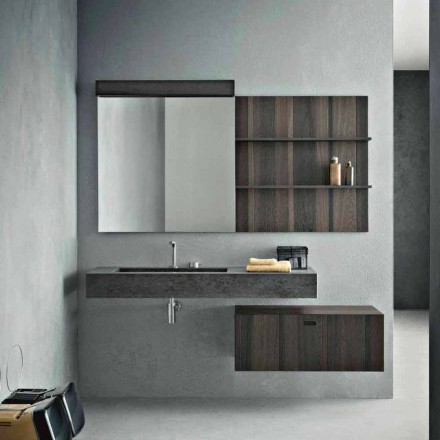 Komposition til ophængt badeværelse og moderne design lavet i Italien - Farart9