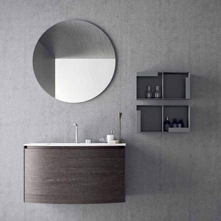 Komposition til det suspenderede badeværelse med moderne design fremstillet i Italien - Callisi11