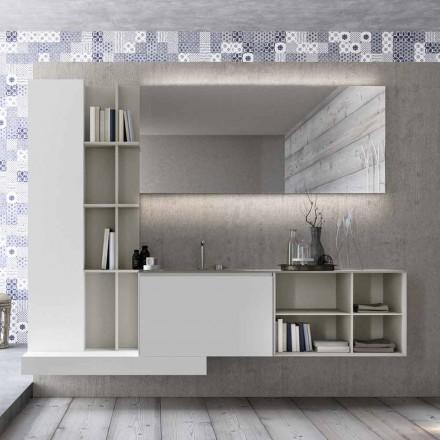 Hængende badeværelsesmøbler med moderne design lavet i Italien - Callisi15