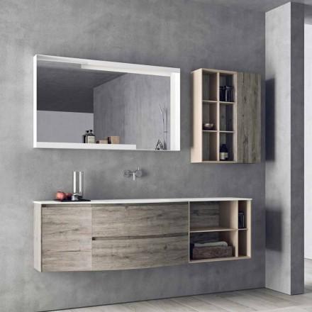 Suspenderet designsammensætning, moderne design badeværelsesmøbler - Callisi5