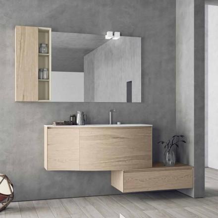 Suspenderet og moderne komposition til badeværelset, lavet i Italien Design - Callisi4
