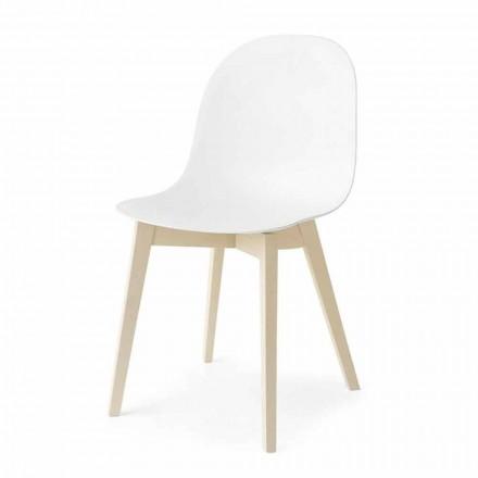 Connubia Calligaris Academy grundlæggende design stol i træ, 2 stk