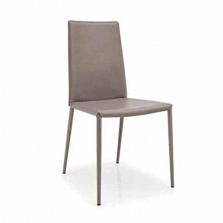 Connubia Calligaris Boheme læderstol, moderne metal, 2 stk