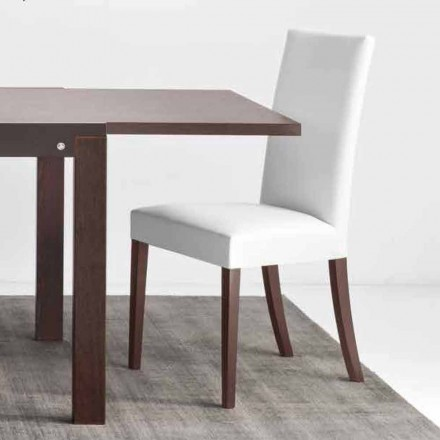Connubia København Calligaris stol i imiteret læder og træ, 2 stk