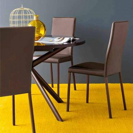 Connubia Calligaris Garda moderne stol i stof og metal, 2 stk