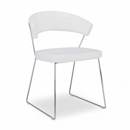 Connubia New York Calligaris stol i moderne design læder, 2 stykker