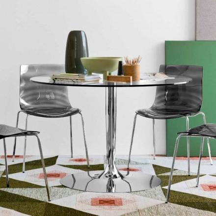 Connubia Calligaris Planet rundt bord Moderne diameter 120 cm, glas