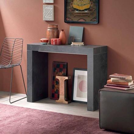 Udtrækkelig bordkonsol op til 290 cm med træplade fremstillet i Italien - Seregno