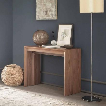 Udtrækkelig bordkonsol Op til 295 cm i træ Made in Italy Design - Temocle
