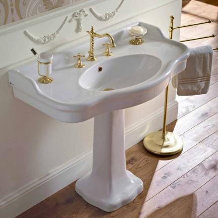 Vintage keramisk badeværelse konsol på Colonna, fremstillet i Italien - Paulina