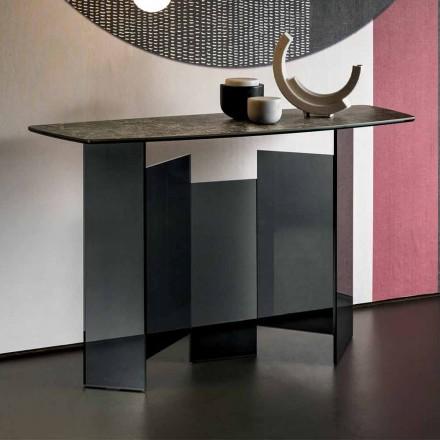 Design stue konsol i keramik og glas fremstillet i Italien - tilfældig