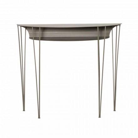 Stue-konsol i moderne stil i stål fremstillet i Italien - Adalgiso