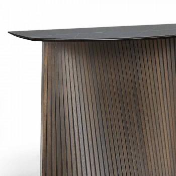 Moderne fast konsol med konveks form og stentøj top, Apex