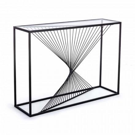 Konsol i stål og glas Modern Design Original Spiral - Sasuke
