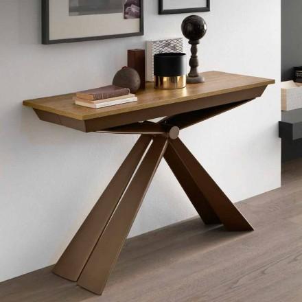 Bordkonsol i træ og metal kan udvides op til 295 cm Fremstillet i Italien - Timedio