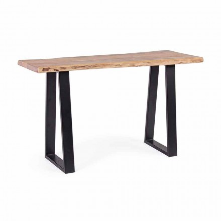 Moderne konsol i Acacia Wood and Steel Design Homemotion - Teresanna