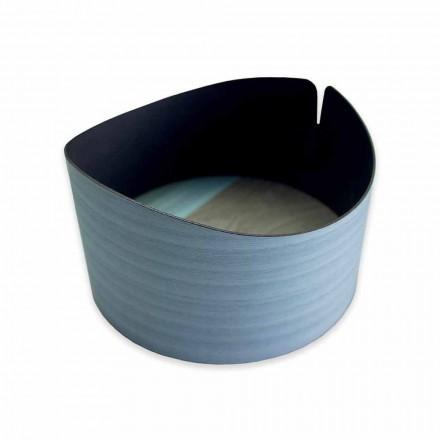 Moderne cirkulær kasse i ægte træ fremstillet i Italien - Stan