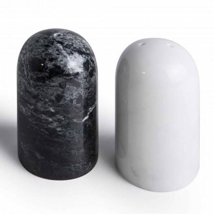 Salt- og peberbeholdere i Carrara og Marquinia-marmor fremstillet i Italien - Xino