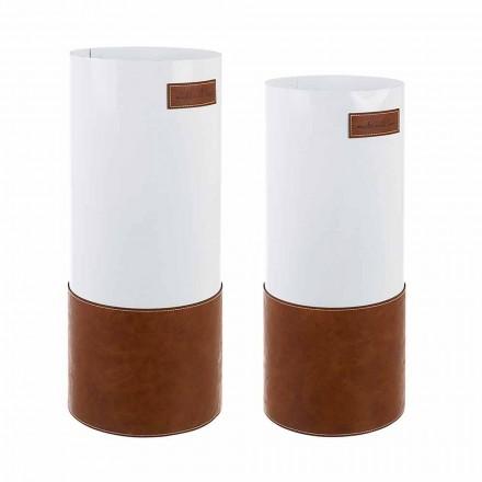 Par moderne paraplystativ i stål og kunstlæder Homemotion - Umbro