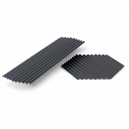 Par bakker i sort eller guldlakeret stål Modern Design - Savona