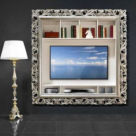 TV vægramme lavet af træ håndlavet i Italien Mario