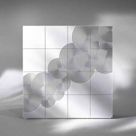 Skænk med 16 ante Slate moderne design, hvid, sort eller guld