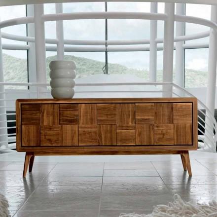Skab med 3 døre i moderne design massiv valnød Nensi