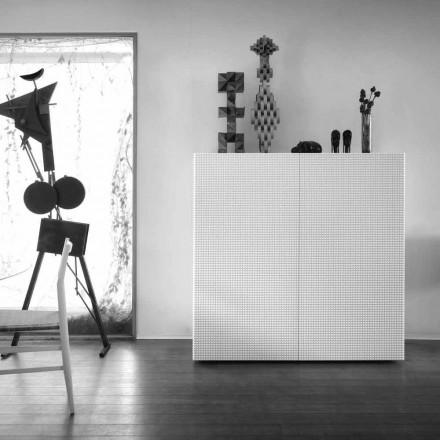 design skænk med 2 døre hvid, sort eller guld mønster Flora