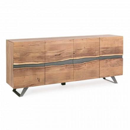 Skænk i træ og malet stål Homemotion i moderne design - Silvia