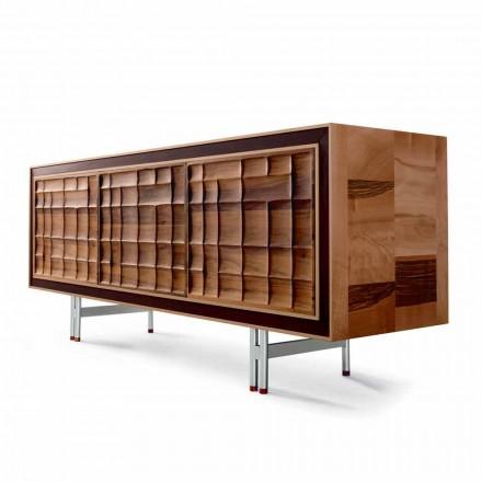 Moderne design Skab med 3 døre i massivt træ Anna