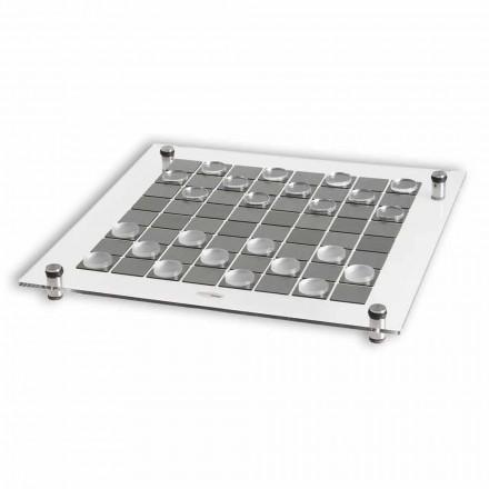 Checkers brætspil lavet i Italien