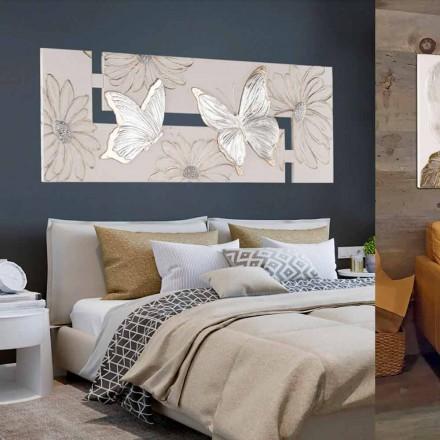 Håndmalet dobbelt-elle maleri med sommerfugle lavet i Italien Martina