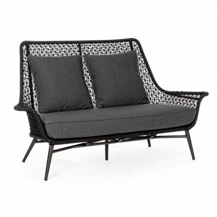 2-personers udendørs design sofa i aluminium og homemotion stof - Nigerio