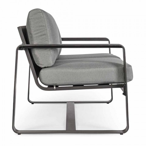 2-personers udendørs sofa i aluminium med stofpuder - Mirea