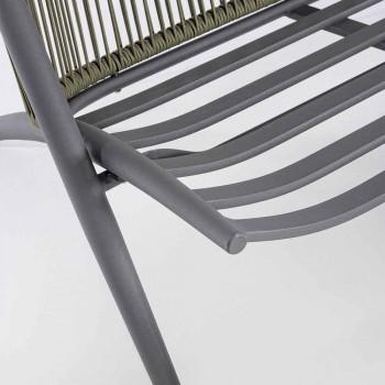 2-personers udendørssofa i aluminium og reb med Homemotion-puder - Gillian