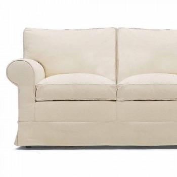 2 -personers sofa betrukket og dækket af stof fremstillet i Italien - Andromeda