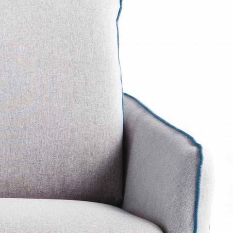 2 pers maxi L.165cm imiteret læder / stof, fremstillet i Italien Erica