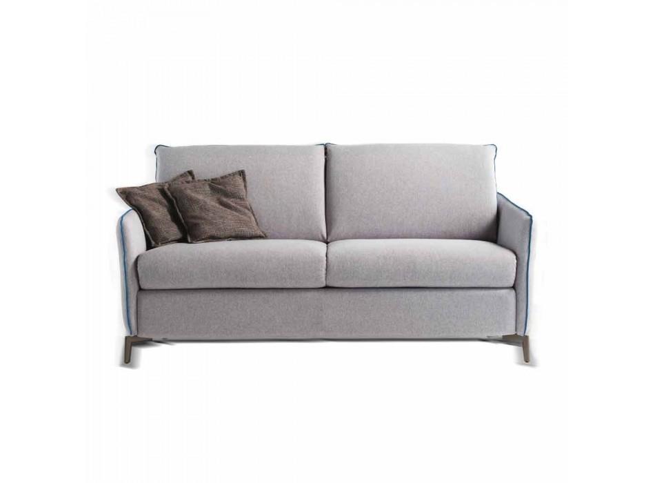 Sofa 2 sæder maxi L.165cm imiteret læder / stof fremstillet i Italien Erica