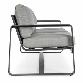 3-pers. Udendørs sofa med rygpuder og sæde i stof - Mirea