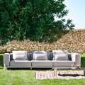 3-pers. Udendørs sofa i aluminium og stof af høj kvalitet - Filomena